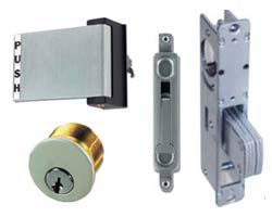Store front door hardware, locksmith, install, lockouts